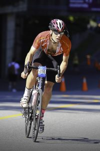 Author racing bicycle